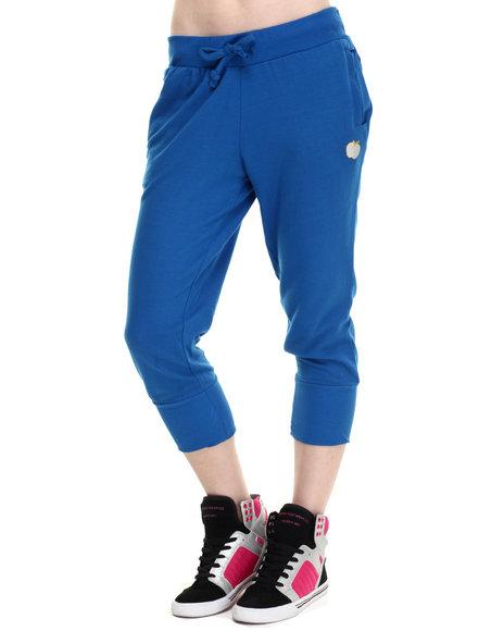 Ur-ID 214713 Apple Bottoms - Women Blue Cropped Jogger