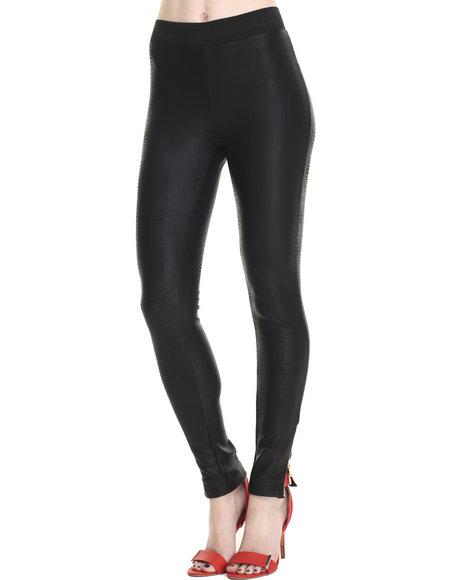 Ur-ID 214714 Freestyle - Women Black Snake Skin Scuba Legging