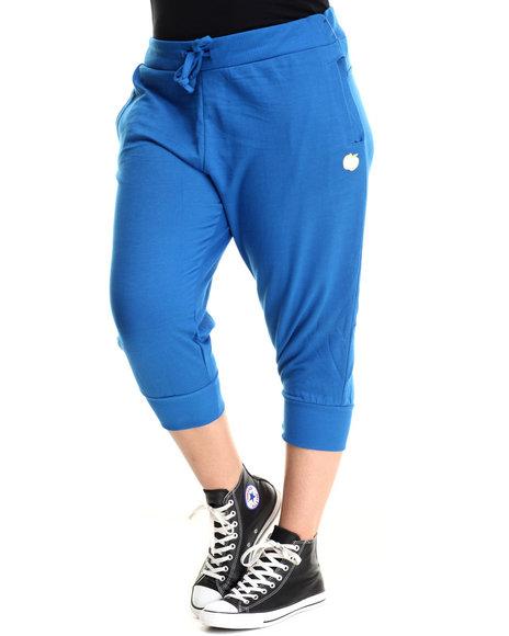 Apple Bottoms - Women Blue Cropped Jogger (Plus)
