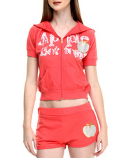 Apple Bottoms - Short Sleeve Hoodie Set