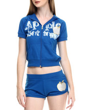 Apple Bottoms - Short Sleeve Hoody Set