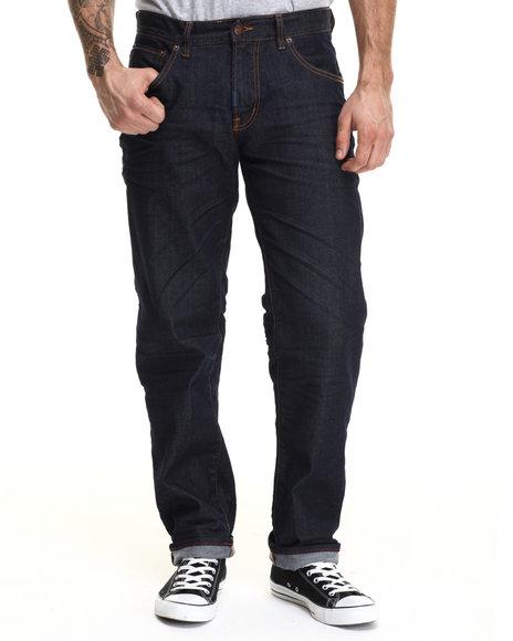 Lrg - Men Dark Wash Core Lrg True Straight Denim Jeans