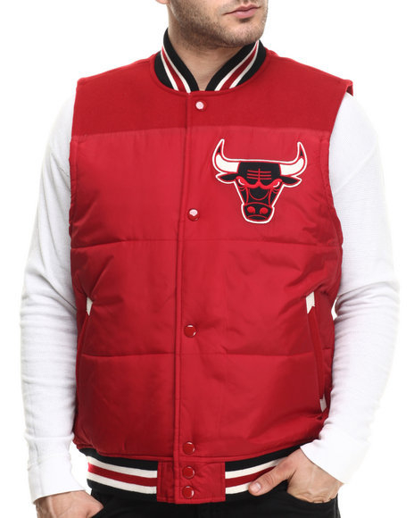 Mitchell & Ness - Men Red Chicago Bulls Nba Title Holder Vest