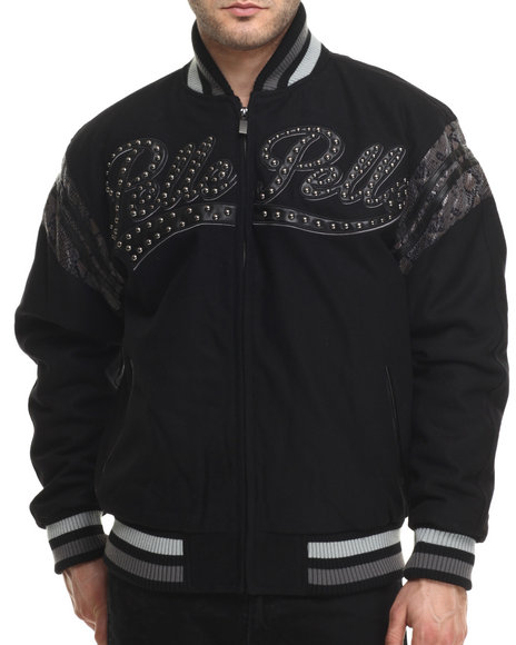 Ur-ID 214728 Pelle Pelle - Men Black Vintage International Pelle Jacket