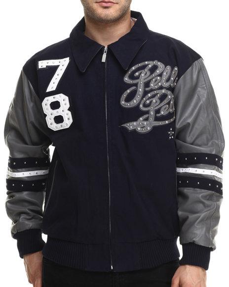 Pelle Pelle - Men Navy Legend Vintage Pelle Twill Jacket