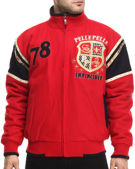 Pelle Pelle - Men Red Invincible Wool Jacket