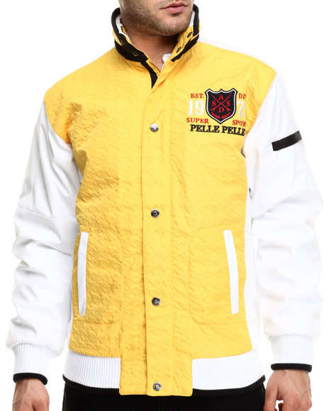 Ur-ID 214740 Pelle Pelle - Men Yellow Super Sport Pelle Jacket