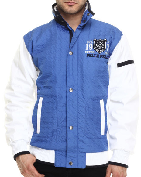 Pelle Pelle - Men Blue Super Sport Pelle Jacket - $155.99