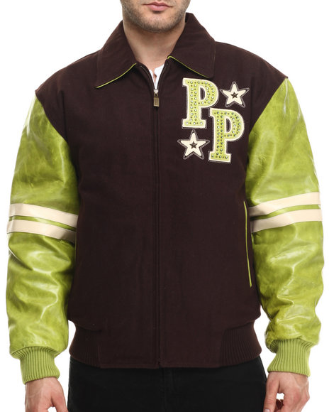 Pelle Pelle - Men Brown Wool Soda Club Pelle Pelle Jacket - $182.99