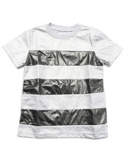 Boys - STRIPE CUT & SEW COATED JERSEY TEE (4-7)