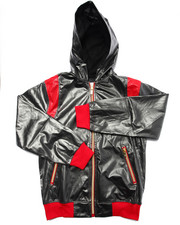 Light Jackets - COATED JERSEY FULL ZIP HOODY (8-20)