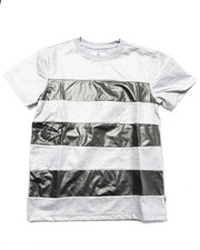 Boys - STRIPE CUT & SEW COATED JERSEY TEE (8-20)
