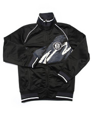 Track Jackets - BROOKLYN NETS TRICOT JACKET (8-20)