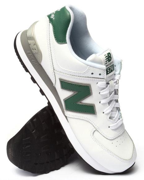 Ur-ID 214785 New Balance - Men White 574 Leather
