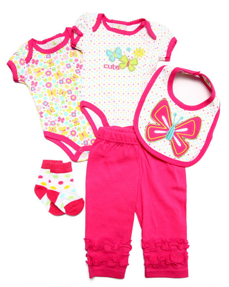 Duck Duck Goose - Girls Pink 5 Pc Cutie Set (Newborn)