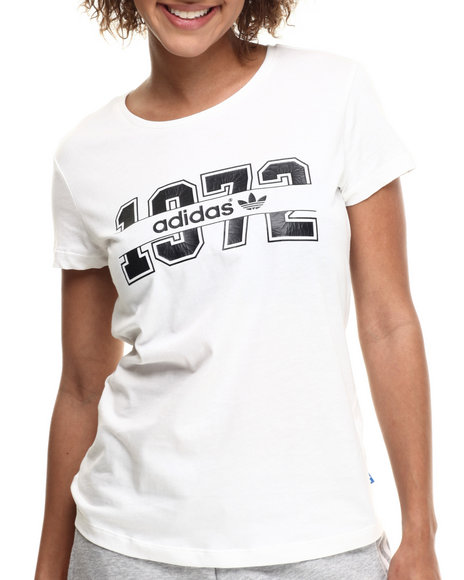 Adidas - Women White Super Logo S/S Tee - $13.99