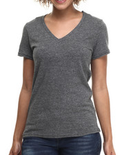 Basic Essentials - Speckle V-Neck Tee