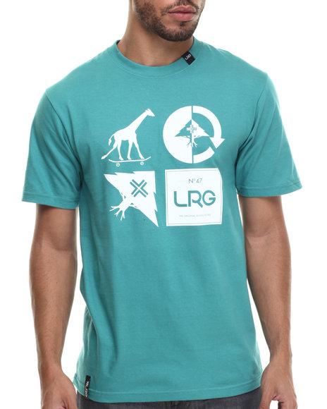 LRG - Men Green Rc Logo Mash Up T-Shirt