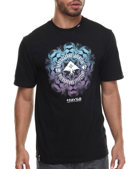 LRG - Men Black Lion Chamber T-Shirt