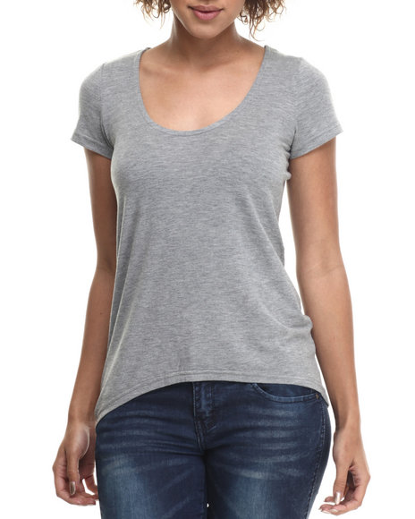Ur-ID 214806 Basic Essentials - Women Grey Basic Boyfriend Tee