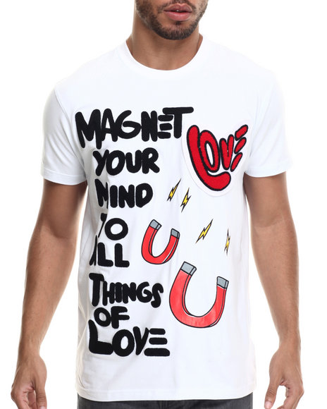 Ur-ID 214808 Bass By Ron Bass - Men White Things Of Love S/S Tee