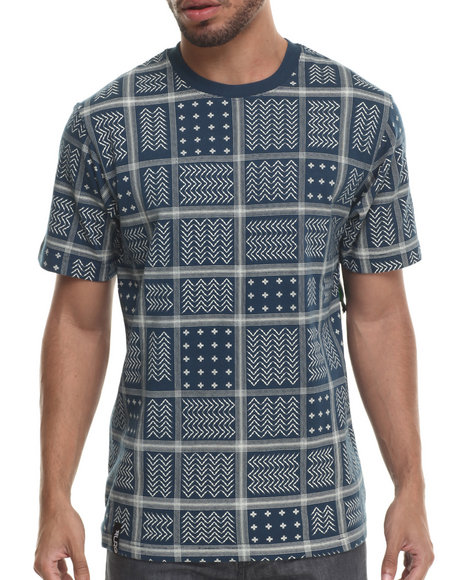 LRG - Men Blue Rc Ss Knit T-Shirt