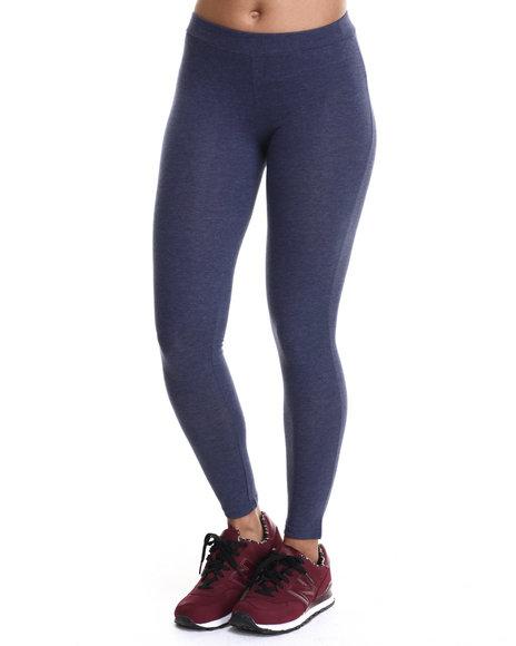 Ur-ID 214815 Basic Essentials - Women Blue Darleen Cotton Spandex Basic Leggings