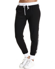 Basic Essentials - Jersey Knit Jogger w/zipper detail