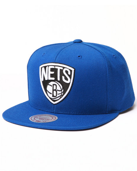 Ur-ID 223026 Mitchell & Ness - Men Blue Brooklyn Nets Logo Series Snapback Hat