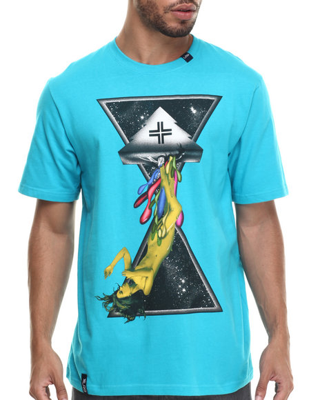 LRG - Men Teal Space Drips T-Shirt