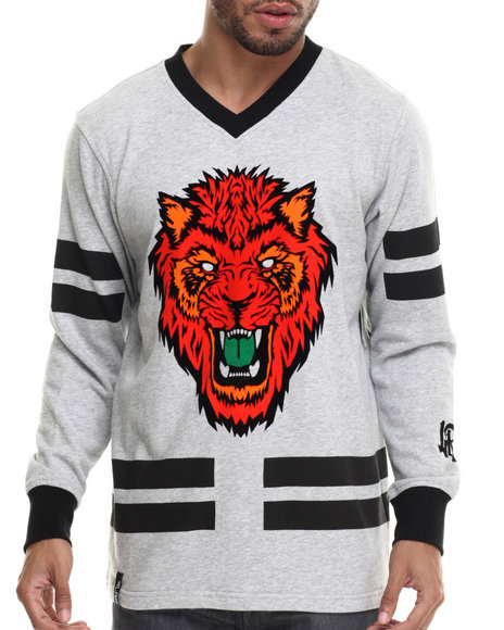 Ur-ID 214816 LRG - Men Grey Los Gatos Hockey Jersey