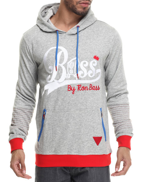 Ur-ID 214821 Bass By Ron Bass - Men Grey Catchin' Bass Pullover Hoodie
