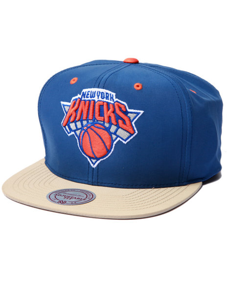 Ur-ID 223025 Mitchell & Ness - Men Blue New York Knicks  Butter Nylon 2Tone Strapback Hat