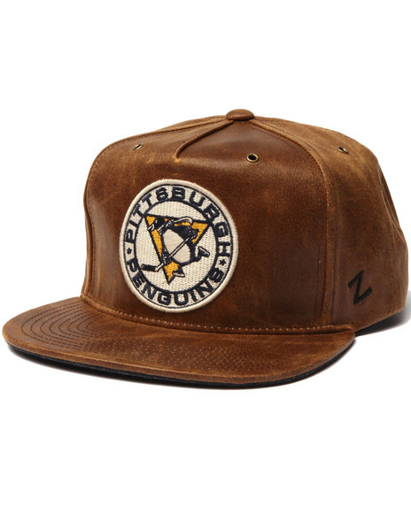Ur-ID 223038 NBA, MLB, NFL Gear - Men Brown Pittsburgh Penguin Dynasty Adjustable Hat