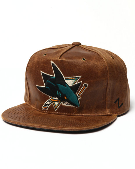 Ur-ID 223039 NBA, MLB, NFL Gear - Men Brown San Jose Sharks Dynasty Adjustable Hat