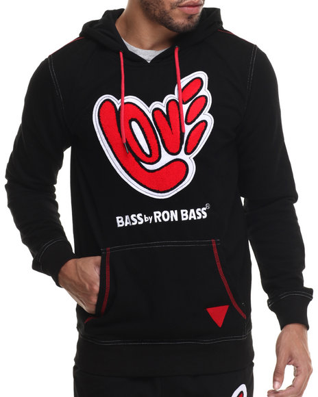 Ur-ID 214788 Bass By Ron Bass - Men Black All Love Pullover Hoodie