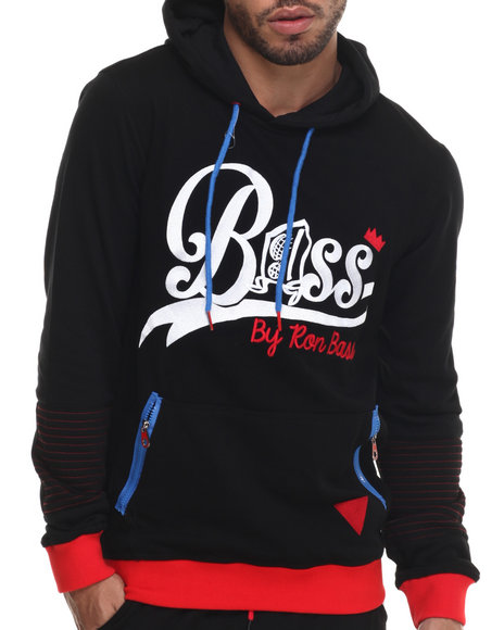 Ur-ID 214830 Bass By Ron Bass - Men Black Catchin' Bass Pullover Hoodie
