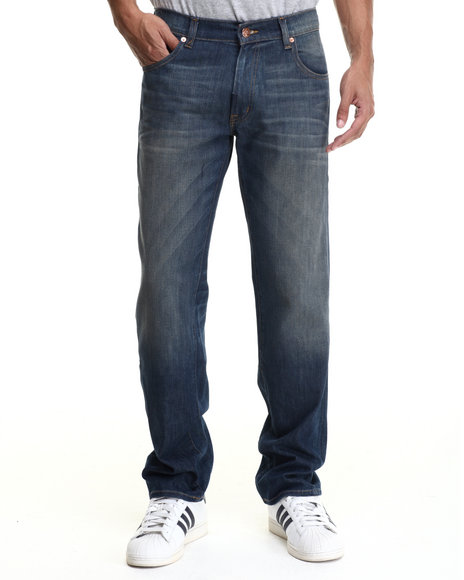 Lrg - Men Medium Wash Core Lrg True Straight Denim Jeans - $57.99