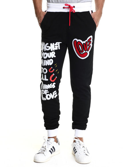 Bass By Ron Bass - Men Black Things Of Love Jogger - $104.99