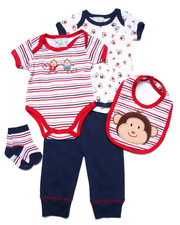 Sets - 5 PC MONKEY SET (NEWBORN)