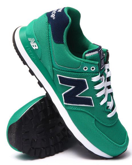 Ur-ID 214787 New Balance - Men Green 574 Pique Polo