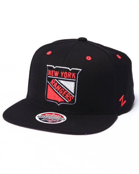Ur-ID 223034 NBA, MLB, NFL Gear - Men Black New York Rangers Infrared Snapback Hat