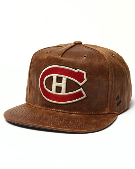 Ur-ID 223037 NBA, MLB, NFL Gear - Men Brown Montreal Canadiens Dynasty Adjustable Hat