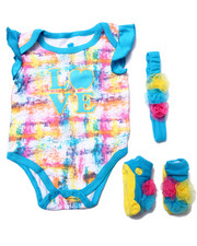 Apple Bottoms - BODYSUIT, BOOTIES & HEADBAND BOX SET (NEWBORN)
