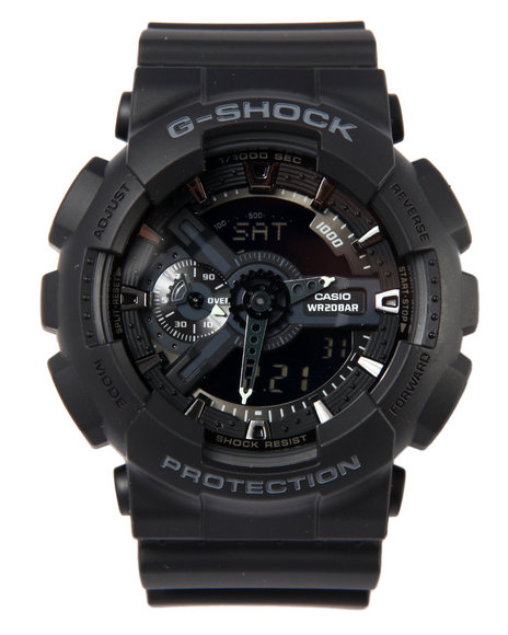 G-Shock By Casio Men Military Ga-110 Watch Black