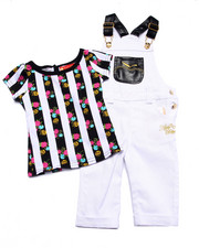 Apple Bottoms - 2 PC OVERALL SET (INFANT)
