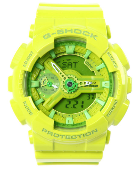 G-Shock By Casio Men Glossy Neon Green Gmas-110 Lime Green - $130.00