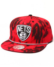 Mitchell & Ness - Brooklyn Nets Red & Black Denim Snapback hat