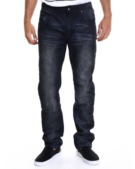 Parish - Men Dark Wash Denim Dirty Wash - $52.99