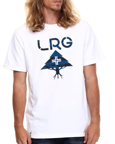 LRG - Men White Savage Core Logo T-Shirt